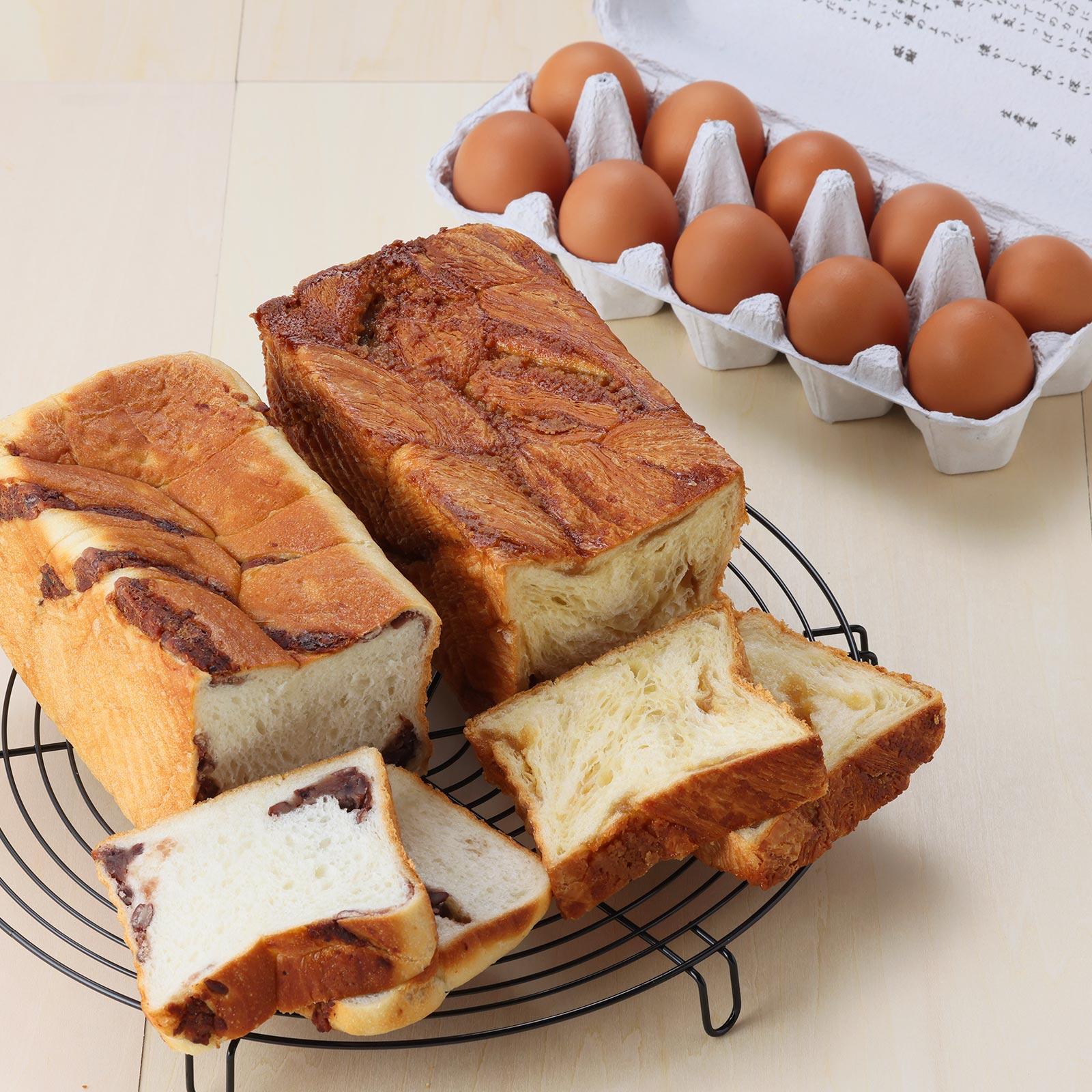 冬のスイーツ食パン食べ比べセット<天美卵と共に>