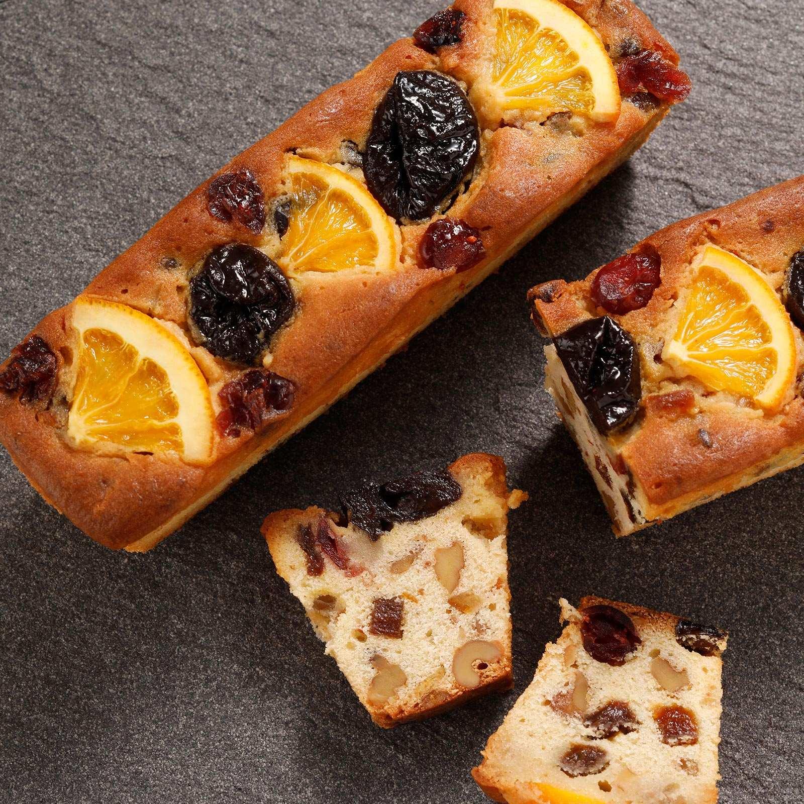 ドライフルーツと胡桃のミニパウンドケーキ