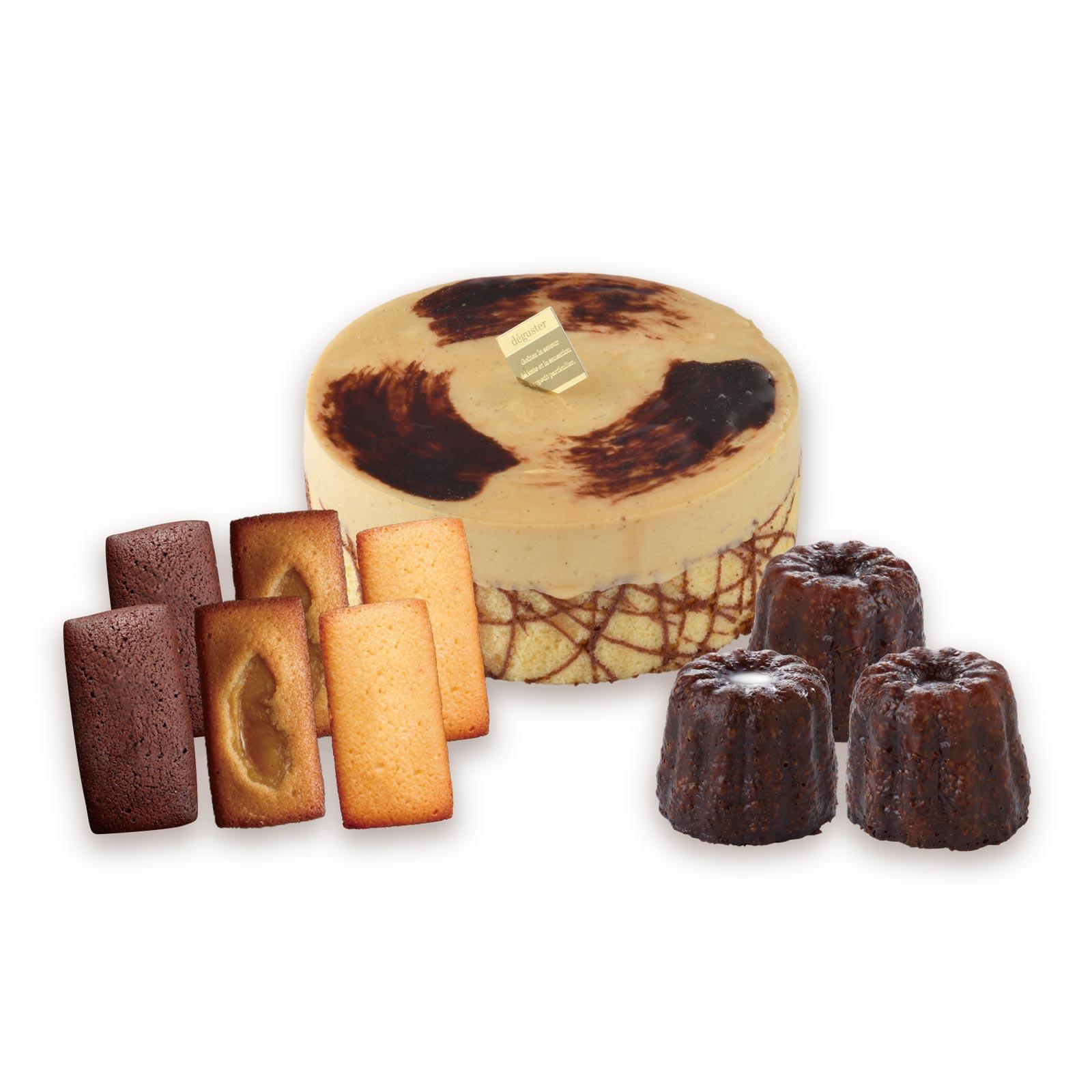 濃厚でなめらかな和栗のケーキと和栗デニッシュ、ラム酒とバニラが香るカヌレを詰め合わせた、スイーツ好きにおすすめの秋限定ギフトセット