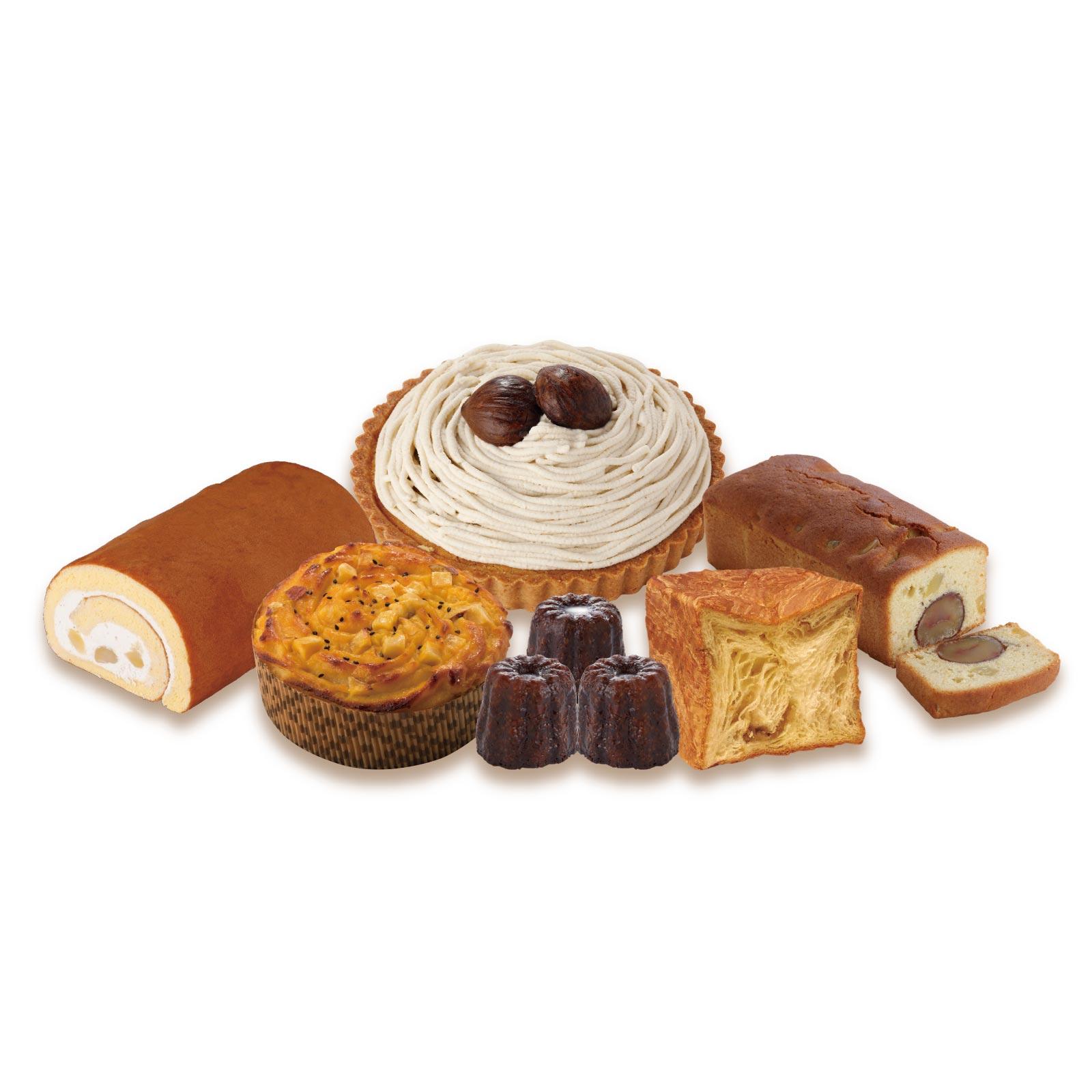 和栗もんぶらんタルトやスイートポテトケーキなどの秋限定スイーツをたっぷりと詰め合わせた送料無料セット