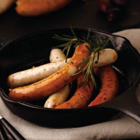 IFFAドイツ食肉協会主催国際コンテストで金賞を受賞した、粗挽きソーセージ・ニュールンベルガー・ハーブソーセージのセット
