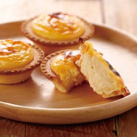 天美卵のコクと北海道産クリームチーズのさわやかさが広がるたまご味のチーズタルト